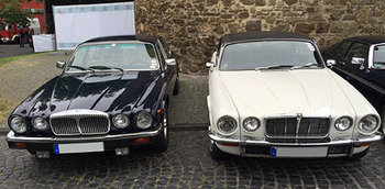 Jaguar XJ Coupé Series 2 (rechts) und Series 3 (links)