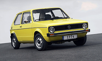 VW Golf ab 1974  Foto: VW AG