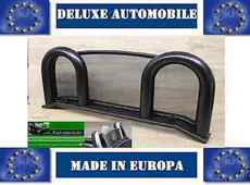Deluxe Black Edition Fiat Barchetta Roadster Roll Bar NEW Wind Deflector
