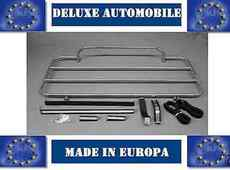 Luggage Rack Mercedes R107 SL Stainless Steel 1971 bis 89 NEW WITH STRAPS
