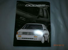 Dodge Spirit/Shadow/Dynasty/Monaco/colt US Prospekt Broschüre Brochure 1992