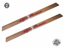 Door Sill Alfa Romeo Set 2-piece Stainless Steel Universal Engraved with Logo